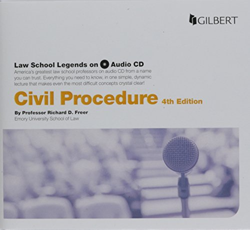Law School Legends Audio on Civil Procedure 9781634607698 This audio lecture covers subject matter jurisdiction, personal jurisdiction, long arm statutes, and constitutional limitations. It also