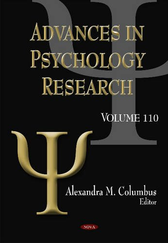 Advances in Psychology Research: 110 (Hardcover)