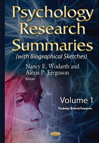 Psychology Research Summaries: With Biographical Sketches: Wodarth, Nancy E