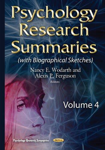 Psychology Research Summaries: Wodarth, Nancy E