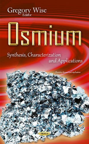 9781634834834: Osmium: Synthesis, Characterization and Applications (Chemistry Research and Appplications)