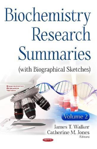 Biochemistry Research Summaries: James T Walker