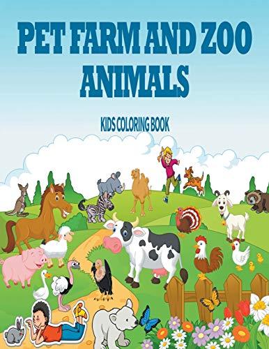 9781635018769: Pet, Farm & Zoo Animals: Kids Coloring Book