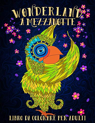 9781640010468: Wonderland A Mezzanotte: Libro Da Colorare Per Adulti: Volume 2