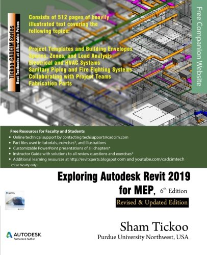 9781640570337: Exploring Autodesk Revit 2019 for MEP, 6th Edition
