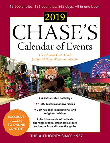 9781641432634: Chase's Calendar of Events 2019: The Ultimate Go-to Guide for Special Days, Weeks and Months