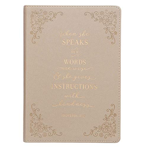 Christian Art Gifts Ivory Faux Leather Journal: Christian Art Gifts
