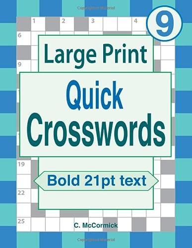 9781654150501: Large Print Quick Crosswords Volume 9