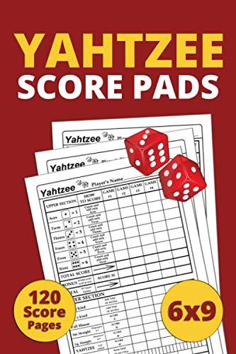 9781655091605: Yahtzee Score Pads: 120 Pages 6 x 9 inches, Yahtzee score book