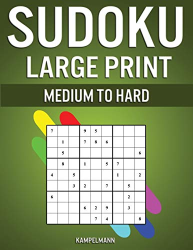 9781658066617: Sudoku Large Print Medium to Hard: 250 Medium to Hard Large Print Sudokus for Adults - (With Solutions in Back)