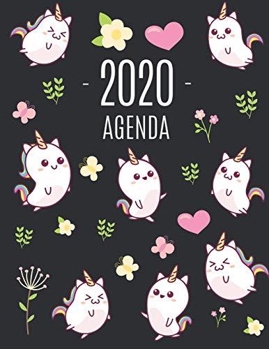 9781660632138: Kawaii Licorne Agenda 2020: Agenda Annuel   Pour l'Organisation à la Maison ou au Bureau