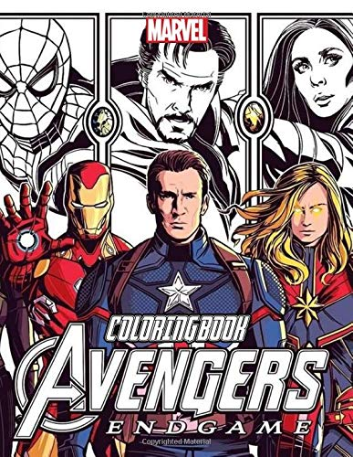 9781671343986: Avengers Coloring Book: 72 illustrations Great Coloring Book for Adults, Teenagers, Tweens, Older Kids, Boys, Girls, Toddlers, Kids