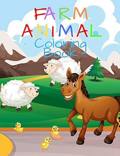 9781674089812: Farm Animal Coloring Book: My First Big Book Of Coloring, Ages 4-8, Animal Coloring Pages, Activity Book For Kids