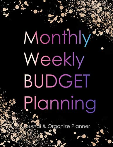 9781675050965: Monthly Weekly budget planning journal & organizer planner: budgeting workbook and undated calendar schedule for personal finance management ( Expense ... ) : cute pink and gold on black cover