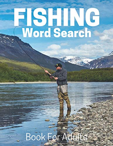 9781675986141: Fishing Word Search Book For Adults: Large Print Fishing gift Puzzle Book With Solutions