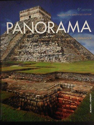 9781680043310: Panorama: Introducción a la lengua española - Instructor's Annotated Edition