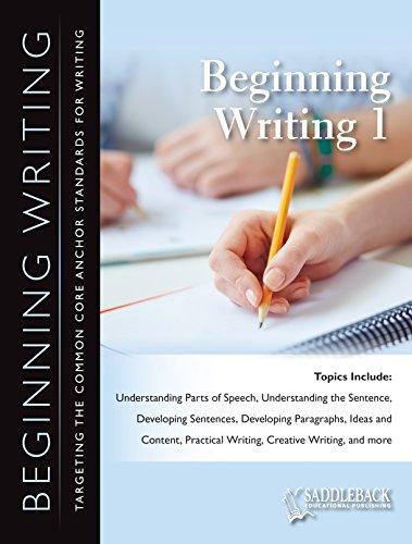 Beginning Writing: Saddleback Educational Publishing