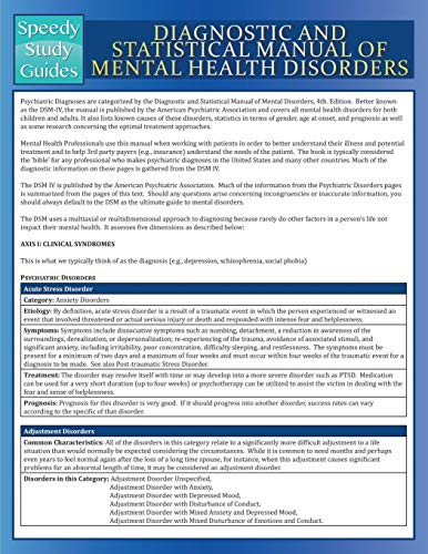9781680321739: Diagnostic and Statistical Manual of Mental Health Disorders (Speedy Study Guide)
