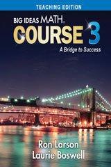9781680331271: BIG IDEAS MATH Course 3 - Teaching Edition