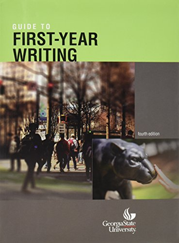 9781680360240: Guide to first year writing gsu fourth edition