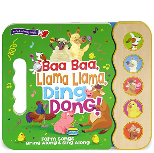 Baa Baa, Llama Llama, Ding Dong!: 5-Button Children's Sound Book