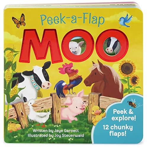 9781680521245: Moo: Peek-a-Flap Children's Board Book
