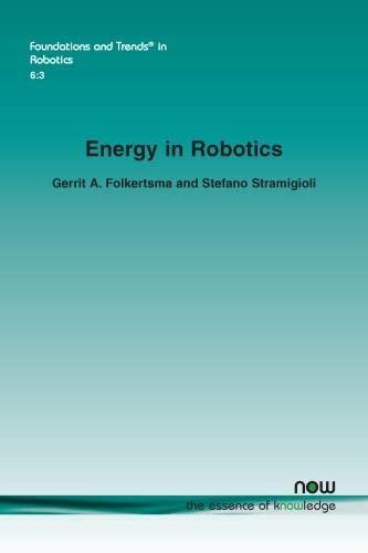 9781680833126: Energy in Robotics (Foundations and Trends in Robotics)