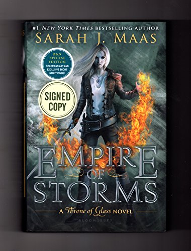 9781681195155: Empire of Storms: A Throne of Glass Novel. Signed Exclusive Edition, ISBN 9781681195155. Author-signed, as issue by publisher; with fan art and exclusive short story
