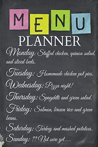 Menu Planner : Plan Your Weekly Menu: Creative Planners