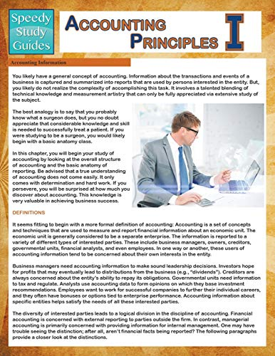 9781681275277: Accounting Principles 1 (Speedy Study Guides)