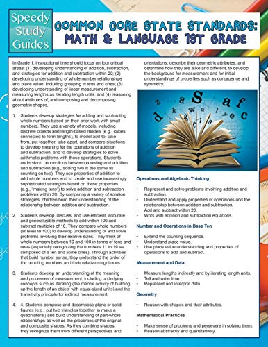 9781681454177: Common Core State Standards: Math And Language 1st Grade (Speedy Study Guides)