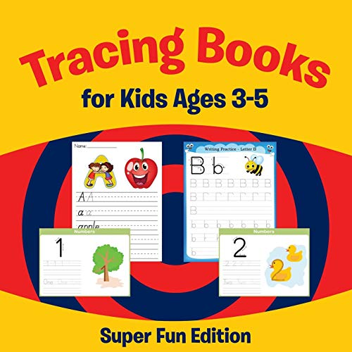 9781681454498: Tracing Books for Kids Ages 3-5: Super Fun Edition