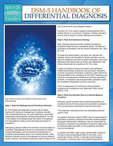 9781681459226: DSM-5 Handbook of Differential Diagnosis (Speedy Study Guides)