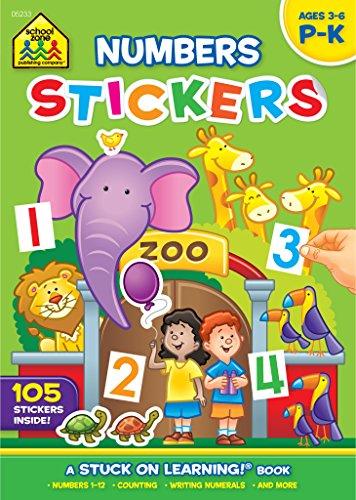 Numbers Stickers: School Zone Staff