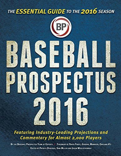 9781681621180: Baseball Prospectus 2016: The Essential Guide to the 2016 Season