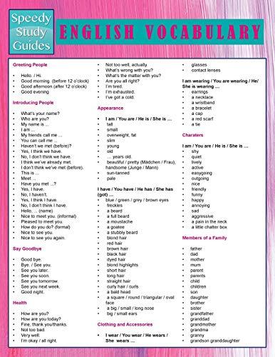 9781681850313: English Vocabulary (Speedy Study Guides)