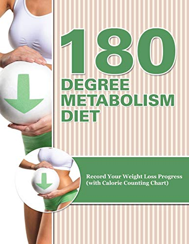 9781681850542: 180 Degree Metabolism Diet: Track Your Diet Success (with Food Pyramid, Calorie Guide and BMI Chart)