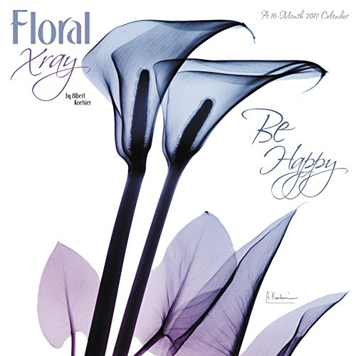 Floral Xray Wall Calendar (2017)
