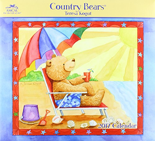 9781682095935: Country Bears - Teresa Kogut 2017 Calendar