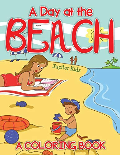 9781682129814: A Day at the Beach (A Coloring Book)