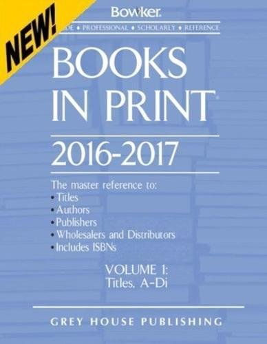 9781682170403: Books in Print - 7 Volume Set, 2016/17