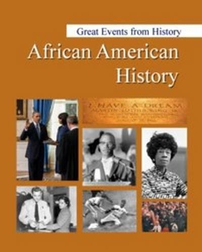 9781682171523: Great Events from History: African American History