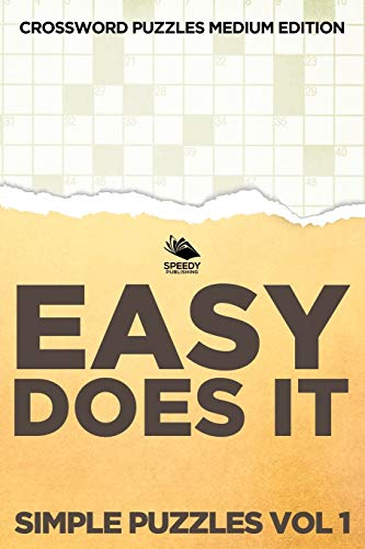 9781682803110: Easy Does It Simple Puzzles Vol 1: Crossword Puzzles Medium Edition