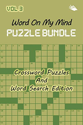 9781682803196: Word On My Mind Puzzle Bundle Vol 3: Crossword Puzzles And Word Search Edition