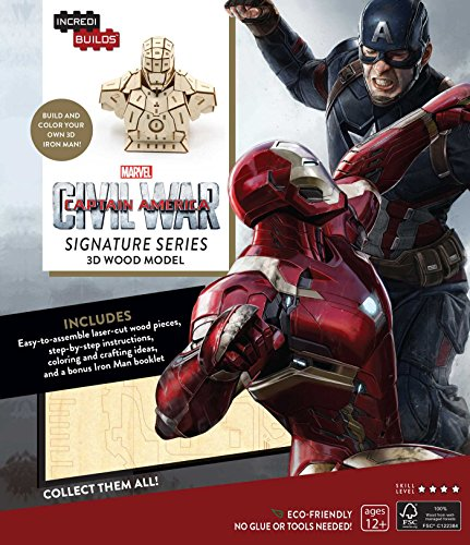 IncrediBuilds: Marvel's Captain America: Civil War: Iron Man Signature Series 3D Wood Model