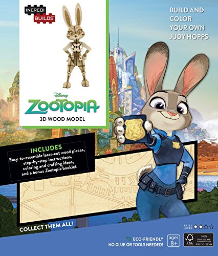 9781682980750: INCREDIBUILDS: DISNEY: ZOOTOPIA 3D WOOD MODEL