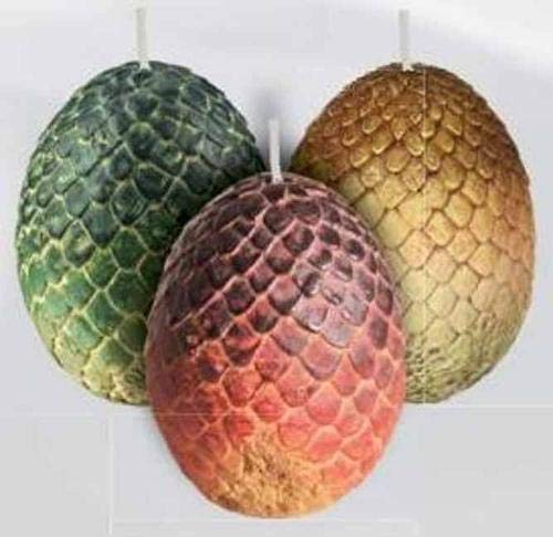 9781682983218: Game of Thrones: Sculpted Dragon Egg Candles (Set of 3)