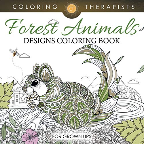 9781683059349: Forest Animals Designs Coloring Book For Grown Ups
