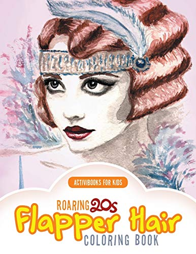 9781683212003: Roaring 20s Flapper Hair Coloring Book