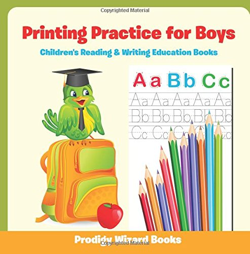 9781683213550: Printing Practice for Boys : Children's Reading & Writing Education Books